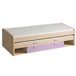 Casarredo LORENTTO, postel L16, jasan/fialová,včetně matrací