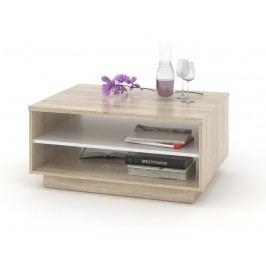 Konferenční stolek VENETO 01, dub sonoma/bílá