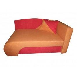 Křeslo  KAROLEK, oranžová/červená, pravá
