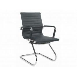 Konferenční židle PRESTIGE SKID, černá