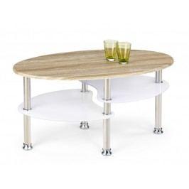 Konferenční stolek MEDEA, bílá/dub sonoma