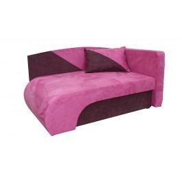 Křeslo  KAROLEK, růžová/fialová, pravá