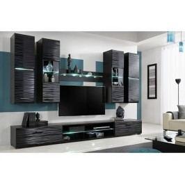Smartshop Obývací stěna BLAJDE 4, černá/sahara