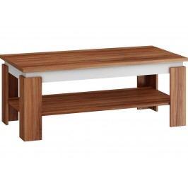 Konferenční stolek BETTA, švestka/bílá