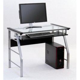 Skleněný PC stůl B-18