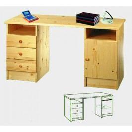 Idea Dřevěný psací stůl 847, masiv smrk