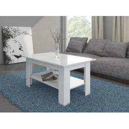 Konferenční stolek ELAIZA, bílá/bílý lesk