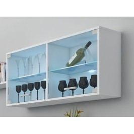 MORAVIA FLAT MAGIC, závěsná skříňka prosklená, bílá