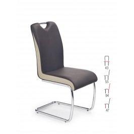 Smartshop Židle K184, tmavě hnědá/champagne