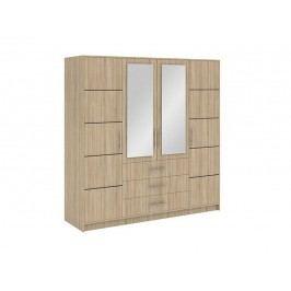 Smartshop BALI D4 šatní skříň, dub sonoma