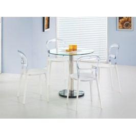 Jídelní stůl CYRYL, kov/sklo