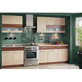 Extom Kuchyně KAMMDUO 210-Z8, tráva/ořech