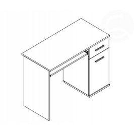 KRISMAR Dětský PC stůl, jasan/hrášek