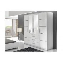 Smartshop BALI D4 šatní skříň, bílá
