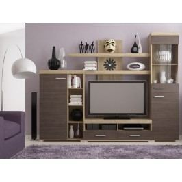 MISTRAL, obývací stěna, dub sonoma/avola šedá