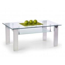 Konferenční stolek BRISA, kov/sklo