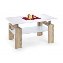 Konferenční stolek DIANA H MIX, bílá/dub sonoma