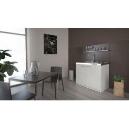 MB Domus Minikuchyně SMART 100 cm s vařičem a dřezem, bílá