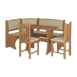 Jídelní rohový set se židlemi B, barva: ...