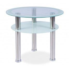 Konferenční stolek PURIO D, kov/sklo