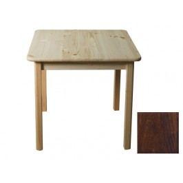 Stůl 60 x 60 cm nr.2, masiv borovice/moření ořech