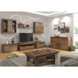 MAXIM obývací pokoj 2, craft tobaco/craft zlatý