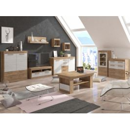 MAXIM obývací pokoj 6, craft zlatý/craft bílý
