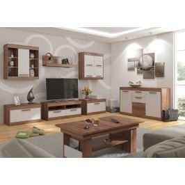 MAXIM obývací pokoj 2, švestka/bílá