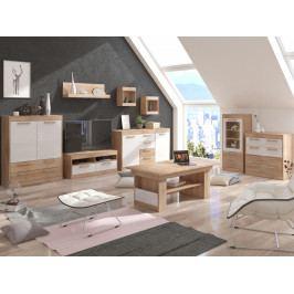 MAXIM obývací pokoj 6, dub sonoma/bílý lesk