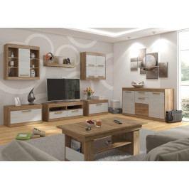 MAXIM obývací pokoj 2, craft zlatý/craft bílý