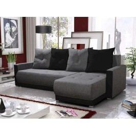 Smartshop Rohová sedačka INSIGNIA BIS 11, šedá/černá