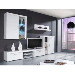 CAMA SAMBA A, obývací stěna, bílá/bílý lesk