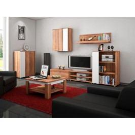 Obývací stěna SKY, švestka/bílá