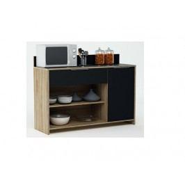 MYKE, kuchyňská skříňka, dub/černá
