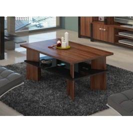 MORAVIA FLAT Konferenční stolek VECTRA 2, švestka wallis/černý lesk