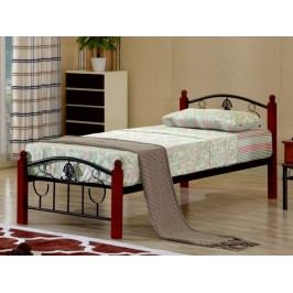 Tempo Kondela MAGENTA kovová postel s roštem 90x200 cm, dub