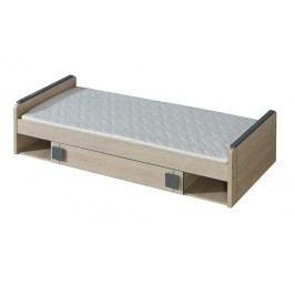 Dolmar GIMMI, postel s úlož. prostorem G13 bez matrace, dub santana + barva: