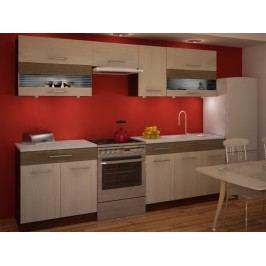 Tempo Kondela Kuchyně JURA NEW IA ZS 200/260 cm, rigoleto light