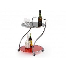 Smartshop Barový stolek BAR-6, černá/červená