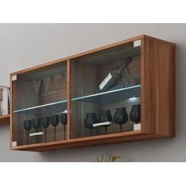 MORAVIA FLAT MAGIC, závěsná skříňka prosklená, švestka