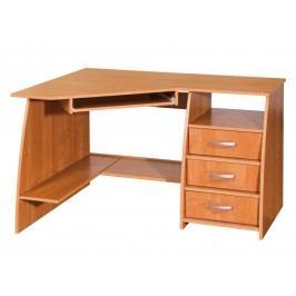 MORAVIA FLAT PC stůl se šuplíky SEVILLA 3, pravý, barva: