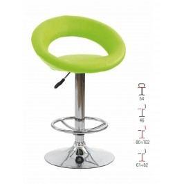Barová židle H-15, zelená