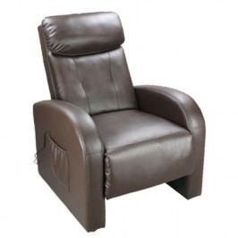Idea Relaxační masážní křeslo Toledo, hnědá