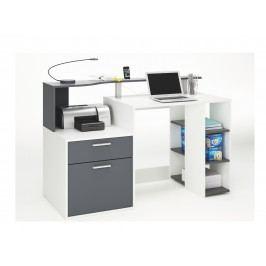 DEMEYERE ORAKLE, psací stůl šíře 140 cm, bílá/grafit