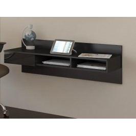 MORAVIA FLAT Designový psací stůl UNO, černá/černý lesk