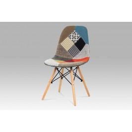Autronic Jídelní židle CT-724 PW2, patchwork / natural