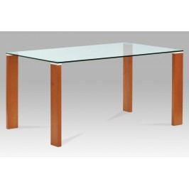 Jídelní stůl BT-6750 TR2, třešeň/sklo