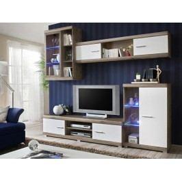 LAGUNA, obývací stěna, dub san remo/bílá