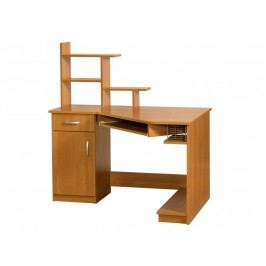 MORAVIA FLAT Praktický PC stůl CARMEN MAX, levý, barva: