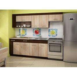 Kuchyně VIZA PLUS 180/240 cm, dub sonoma tmavý/dub sonoma